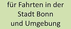 Fahrten in der Stadt Bonn und Umgebung.p