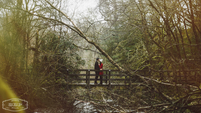 Wet, Drizzly Engagement Shoot