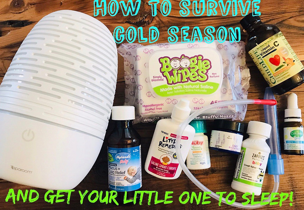 how to survive cold season with a baby, what cold medicine can I give a baby, my baby has a cold, Little Bell Sleep Solutions