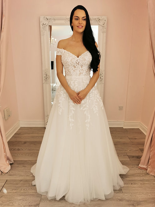 Stella York 7012 Sample Sale Gown Size 14