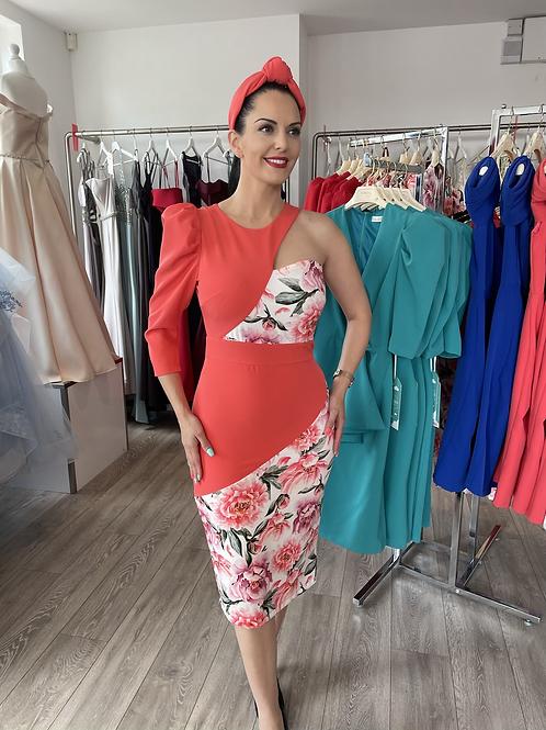 Sabrina Dress (coral/floral)