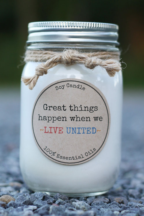 LIVE UNITED (United Way Candle)