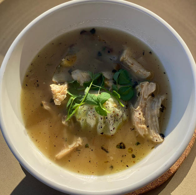 Polish Chicken Rosol Soup