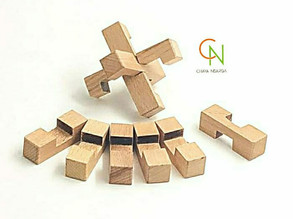 9 PC wooden intersecting puzzle