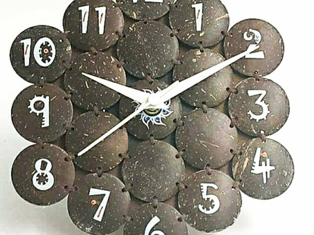 Have you ever seen a coconut shell clock?