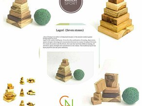 Ancient sport Lagori (Seven Stones)