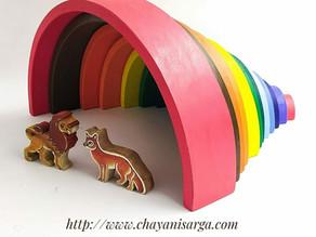 Rainbow stacking puzzle