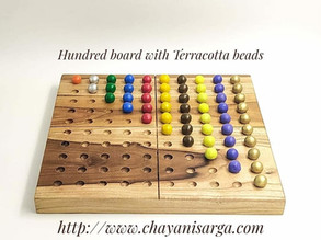 Hundred board with terracotta beads