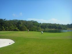 Riviera Maya Golf Course players