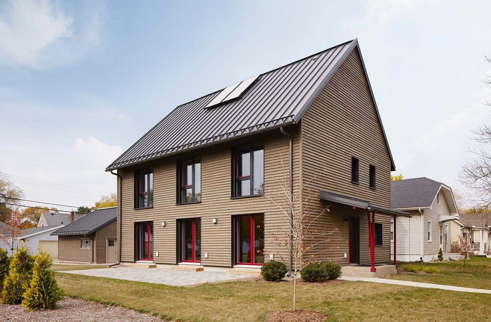 Scandinavian house energy-efficient