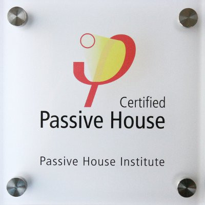 Passive House certificate or label or seal