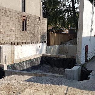 New foundation walls