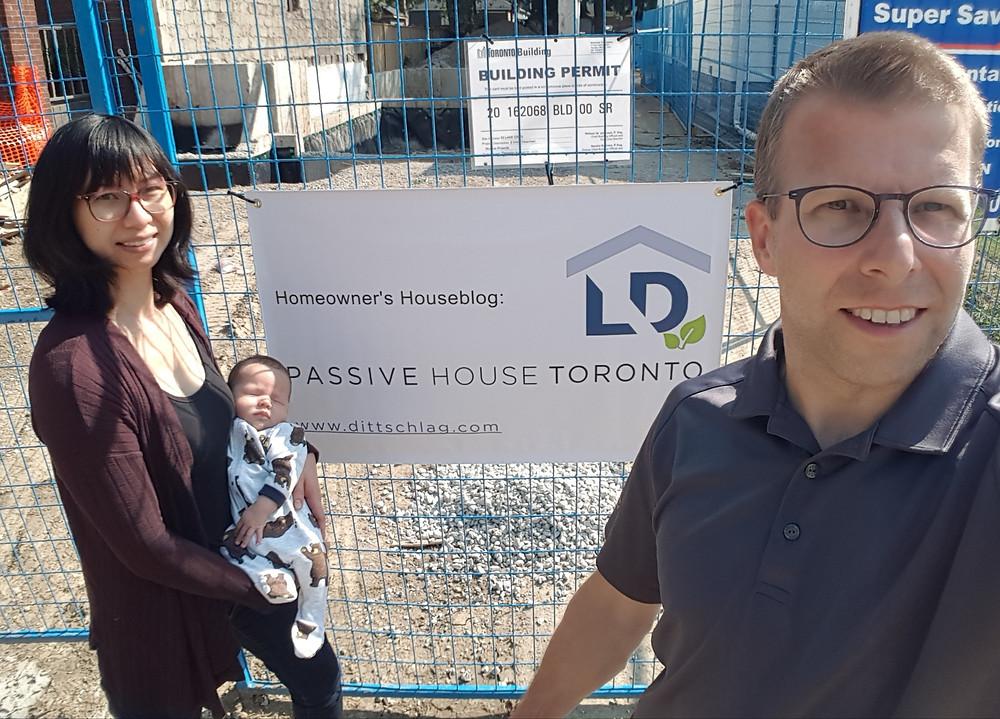 Passive House Toronto building site