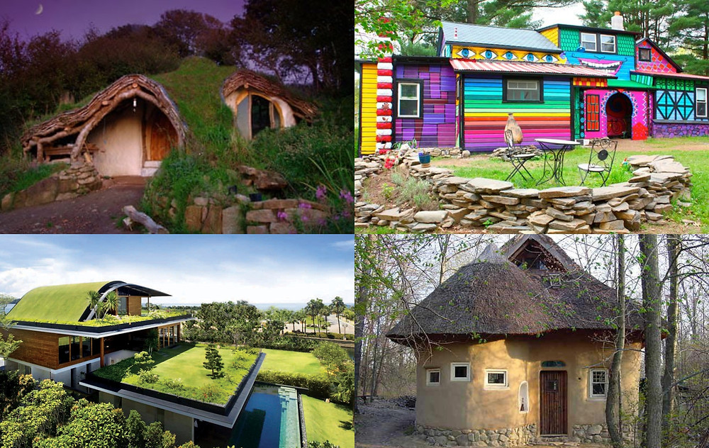 collage of alternative houses