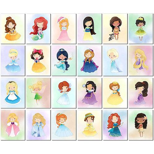 Disney Princess Kids (Set Five - 24 Prints)
