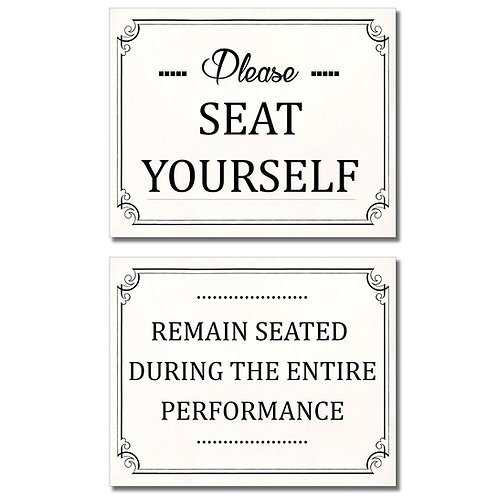 Bathroom Funny Wall Art Prints - Set of two 8x10 Photos - Please Seat Yourself