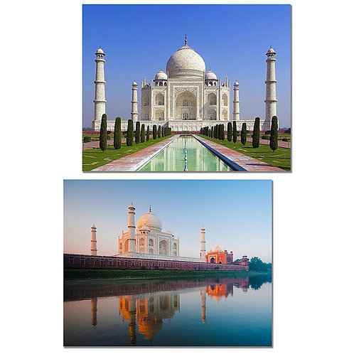 Taj Mahal Art Prints - Set of 2 High Resolution 8x10 Photographs - India Home Wa