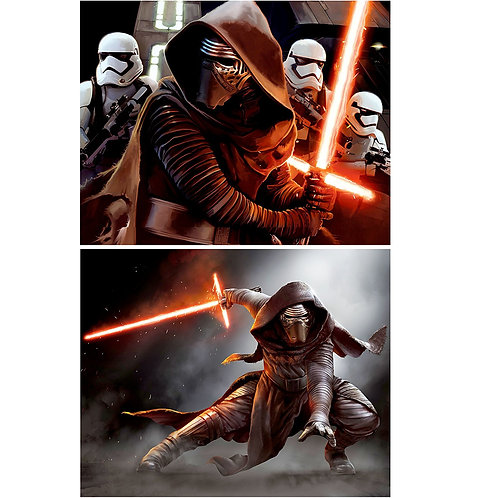 Kylo Ren (Adam Driver) TWO Pack of 8x10 PHOTOS From Star Wars VII (7) The Force