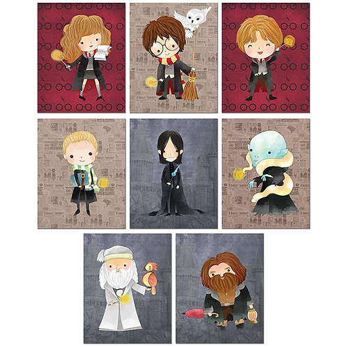 Harry Potter Art Prints - Set of 8 Original 8x10 Photos