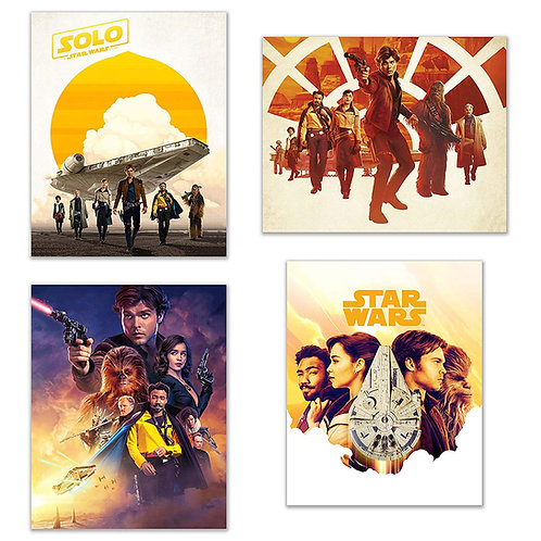 BigWig Prints Han Solo Movie Posters - Set of 4 (8x10) Photos of the 2018 Star W