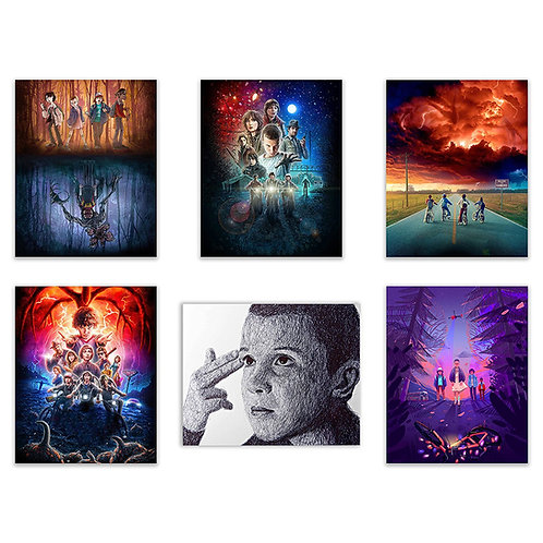 Stranger Things Netflix Poster Prints - Set of Six 8x10 Season Two Photos - Feat