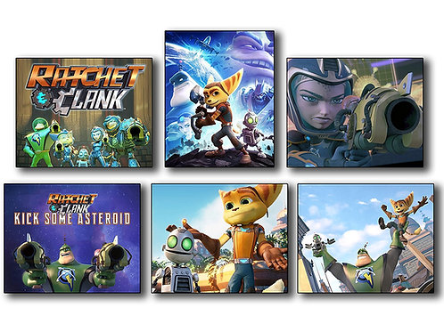 Ratchet and Clank (2016) Movie Photos - Set of 6 Mini Poster Wall Art Photos