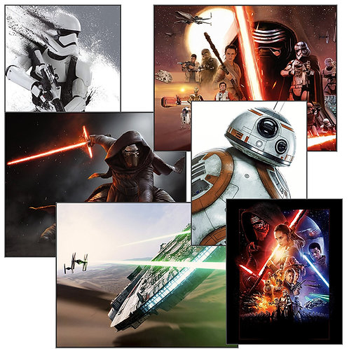 Star Wars Episode VII (7) The Force Awakens Photos - 6 Pack of 8x10s Rare Photog