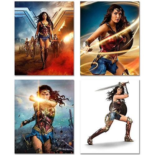 Wonder Woman Movie 2017 8x10 Poster Prints - Set of Four Wall Decor Gal Gadot Ph