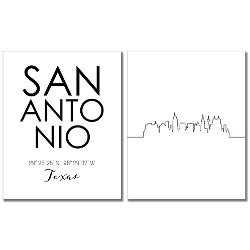 Skyline Wall Art (SanAntonio)