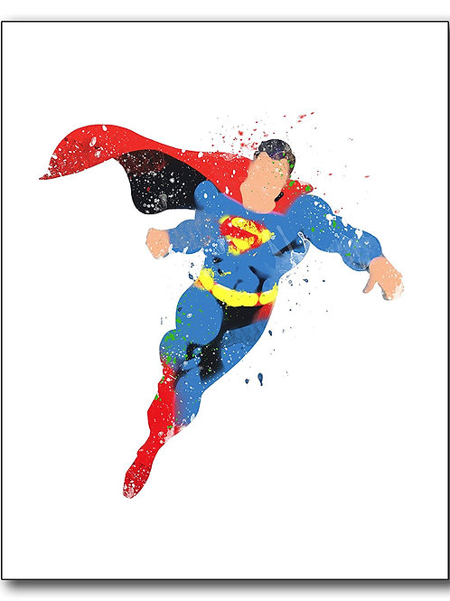 Superhero Watercolor Photo Print - single 8x10