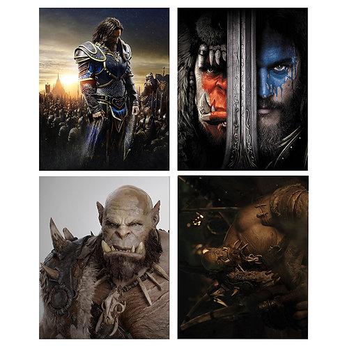 Warcraft The Movie set of four 8x10 PHOTOS - Collectable Prints - Mini Movie Pos