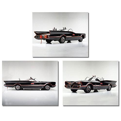 BATMOBILE Photos - Set of three 8x10 Poster Prints - 1955 Ford Lincoln Futura cu