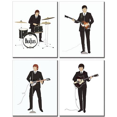 Beatles Art Minimalist Prints - Set of Four 8x10 Original Photographs John Lenno