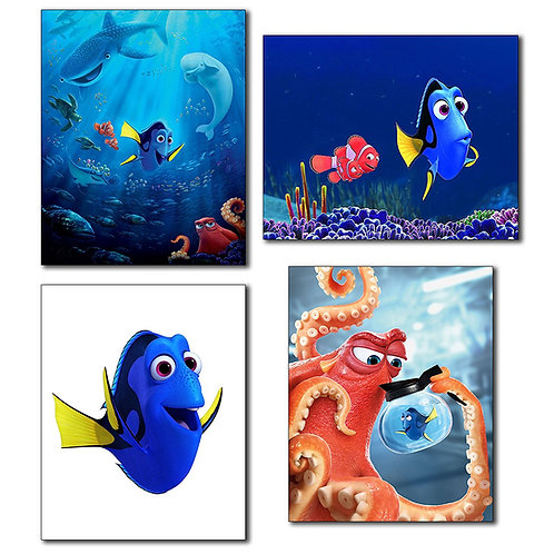 Finding Dory Wall Art Photos - Set of Four 8x10 Poster Prints