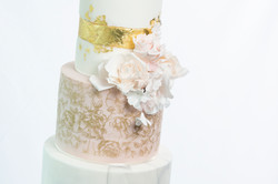 Gold and Roses bruidstaart - Cake Affair