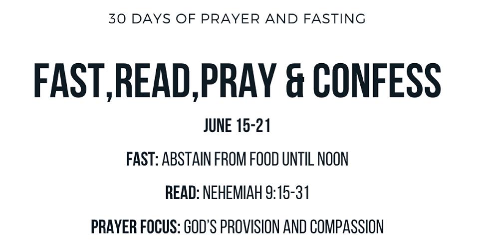 EMBC Corporate Prayer, Confession and Prayer