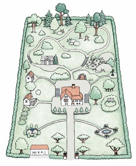 Karta över tomten