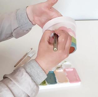 DIY paint a pot