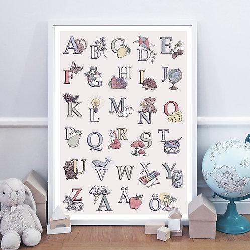 ABC-poster 50x70 cm