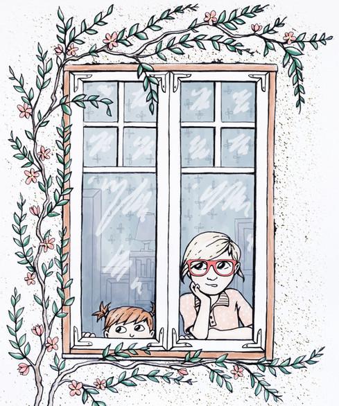 Flickorna i fönstret