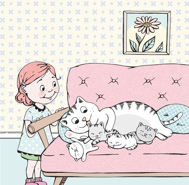 Lilla Bus och kattmamman