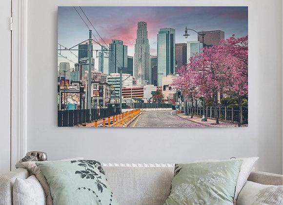 Cherry Blossom LA Canvas