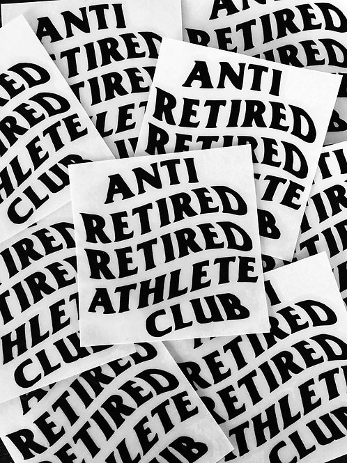 Anti Retired Athlete Sticker Decal