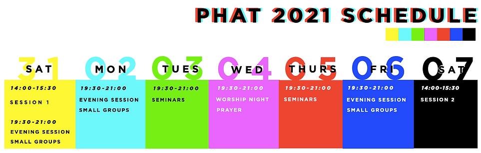 PHAT 2021 Schedule