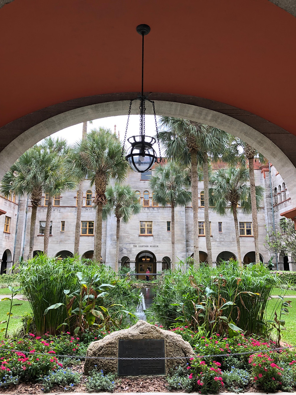 Garden in the Lightner Museum courtyard