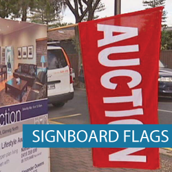 Real Estate - Signboard Flags - Auction