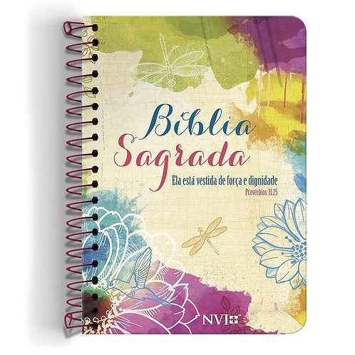 Bíblia Anote NVI grande - Ela está vestida de força e dignidade