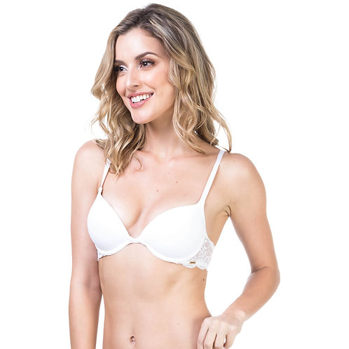 Sutiã Push up com renda lateral -