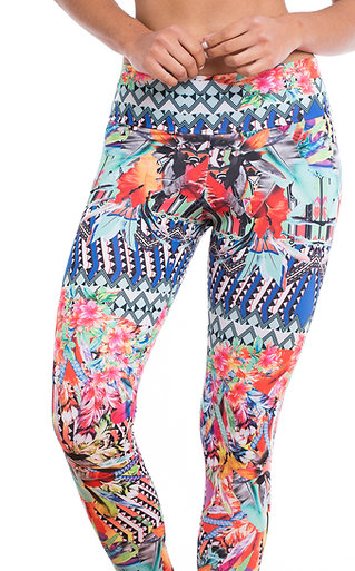 Legging Longa Estampada Tropical Marcyn