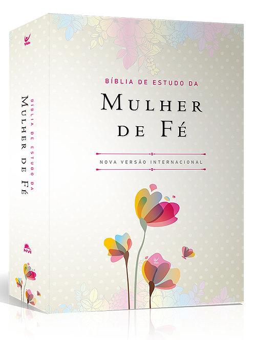 Bíblia de Estudo da Mulher de Fé – capa luxo florida
